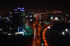 Scape de la ciudad de la noche de Bratislava Imagenes de archivo