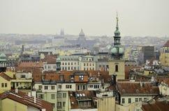 Scape de la ciudad en Praga Imagen de archivo