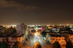 Scape de la ciudad de la noche de la ciudad la Arabia Saudita de Jedda marwah del al foto de archivo