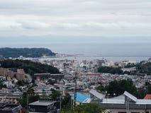Scape de la ciudad de Otaru, de un puerto y de la ciudad turística en Hokkaido, Japón fotografía de archivo libre de regalías