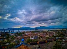 Scape de la ciudad de Panjang foto de archivo