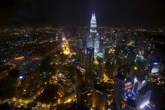Scape de nuit de Kuala Lumpur Photos stock