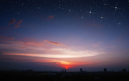 Scape de Star City de la puesta del sol Foto de archivo