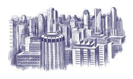 Scape de ville Images libres de droits