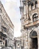 scape de ville. illustration stock