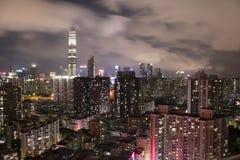 Scape de ville de nuit de Shenzhen Image libre de droits