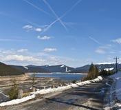 Scape del lago mountain dello Snowy Fotografia Stock