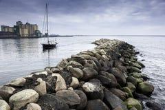 Scape del mar de Ystad Suecia Imágenes de archivo libres de regalías