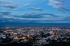 Scape della città di Chiangmai al punto di vista immagini stock