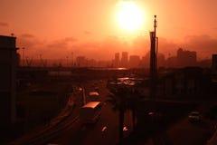 Scape della città di Durban Immagini Stock
