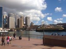 Scape della città di Sydney Harbour Fotografia Stock