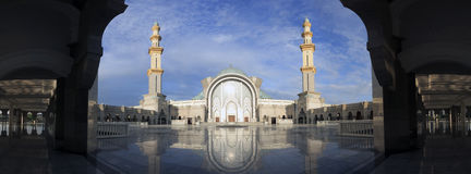 Scape di Kuala Lumpur Mosque Citys Fotografie Stock Libere da Diritti