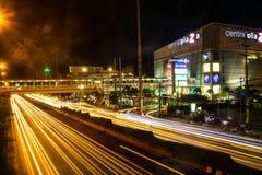 Scape di notte della città di Bangkok immagine stock libera da diritti