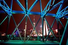 Scape di notte di Shanghai Immagine Stock