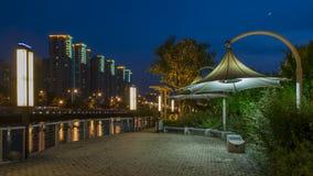 Scape di notte di Shanghai Fotografia Stock Libera da Diritti