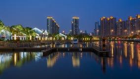 Scape di notte di Shanghai Immagini Stock