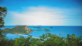 Scape ed isola del mare Fotografia Stock