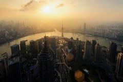 Scape för Shanghai horisontstad, Shanghai luajiazuifinans och horisont för zon för handel för affärsområde, Shanghai Kina arkivbild