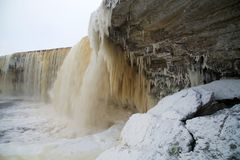 Scape helado de la cascada Imagen de archivo