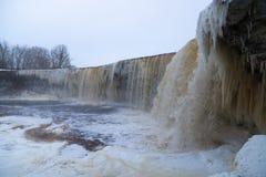 Scape helado de la cascada Fotografía de archivo libre de regalías