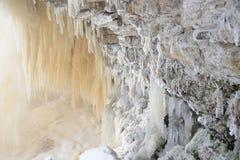 Scape helado de la cascada Fotos de archivo
