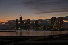 Scape Nigh da cidade do lado oeste de Toronto fotos de stock