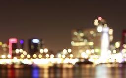 Scape Rotterdam för nattskottstad Arkivbild
