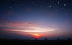 Scape Star City захода солнца стоковое фото
