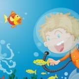 scaphandre de plongeur Images libres de droits