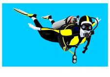 scaphandre de plongeur Photos stock