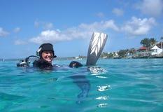 scaphandre de plongeur Photographie stock libre de droits