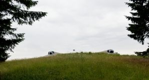 Scappatoie del Na Holem dello srub di pechotni della fortezza Immagini Stock Libere da Diritti