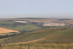 Scar on the SUSSEX DOWNS Stock Image