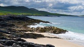 Scara beach, Isle of Harris, Hebrides, Scotland. On sunny day Royalty Free Stock Photo