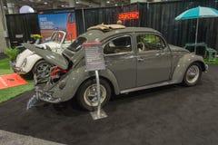 Scarabée électrique de classique de vintage de Volkswagen Image stock