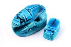 Scarabées égyptiens de coléoptère Image stock