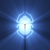 Scarab beetle Egyptian symbol light flare Royalty Free Stock Photography