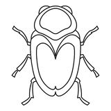 Scarab beetle icon, outline style Royalty Free Stock Photo