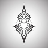 Scarab beetle tribal, vector Royalty Free Stock Photography