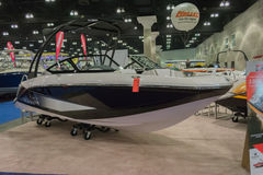 Scarab 215 boat on display Royalty Free Stock Photo