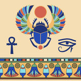 Scarab. Egyptian icons. Royalty Free Stock Photography