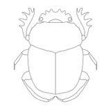 scarab Geotrupidae dor-kever stock illustratie