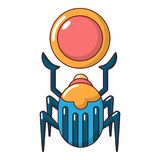 Scarab icon, cartoon style Stock Images