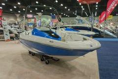Scarab 165 Jet boat on display Royalty Free Stock Image
