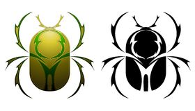 Scarab tattoo design Stock Photography