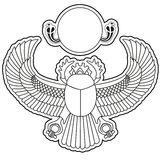 Scarab vector Royalty Free Stock Photos