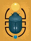 Scarabeo dello scarabeo - un simbolo dell'egitto antico, stile geometrico illustrazione vettoriale
