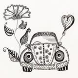 SCARABEO, disegno dell'inchiostro, insetto, vw, a mano libera fotografia stock