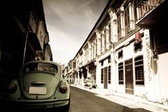 Scarabeo e città Fotografie Stock Libere da Diritti