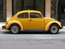 Scarabeo giallo di Volkswagen immagine stock